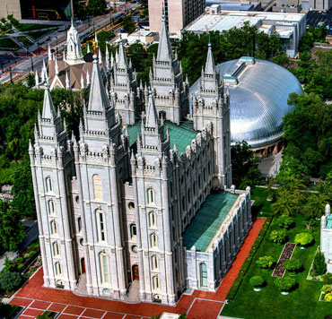 Photo of the Mormon temple in Salt Lake City